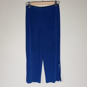 Chico's Travelers Pants Blue Pull On 0 / S / 4